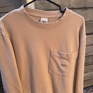 ZARA Men's Oversized Pullover w/ Pocket.